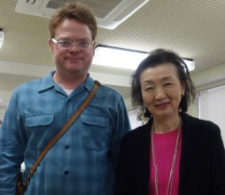 With Hiroko Suzuki, Past President of the Talent Education Research Institute, and who played at the 1955 graduation concert that was filmed and shown in the US.